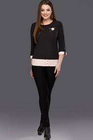 Модель 0086 черный+пудра DiLiaFashion