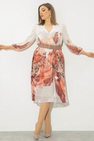 Модель 2119 белый с цветами JeRusi