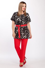 Модель 1834 леопард, красный Beautiful & Free