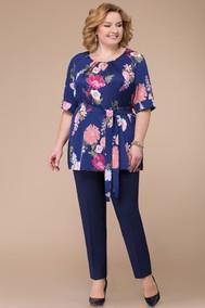 Модель 1213 темно-синий+цветы Svetlana Style