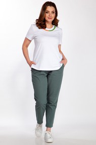 Модель 2171 зелёный с белым Belinga