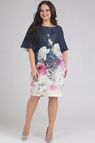 Модель 442 темно-синий+цветы SVT-fashion