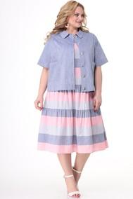 Модель 2522 синий+розовая полоска Кэтисбел