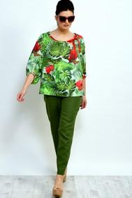 Модель 865С+903С зеленый в цветы Faufilure  outlet