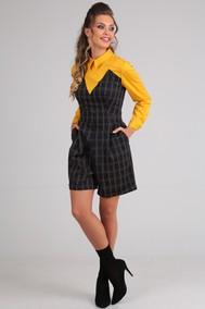 Модель 13615 темно-синий+желтый Sandyna