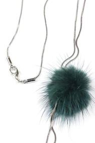Модель Подвеска 9705 серебро+зелёный Fashion Jewelry