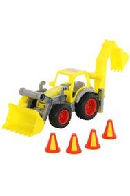 0377 КонсТрак, трактор-погрузчик с ковшом