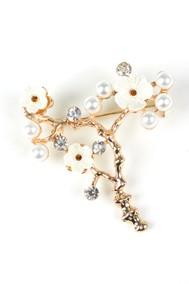 Модель Букетик 62331 белый+золото Fashion Jewelry