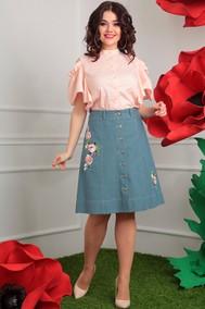 Модель 2408 розовый+зеленый Мода-Юрс