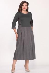 Модель 1681/5 Серый с бордовымПлатье женское Lady Style Classic