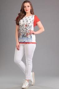 Модель 491 белый+красный Rishelie