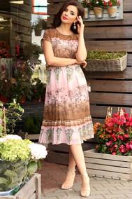 Модель 2557 розовый +коричневый Мода-Юрс