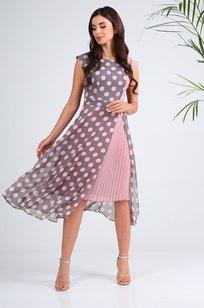 Модель 13976 серый+розовый горох Sandyna