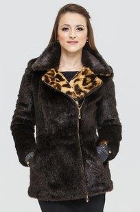 Модель Short-coat-1-03/1-12 коричневый ZIMA