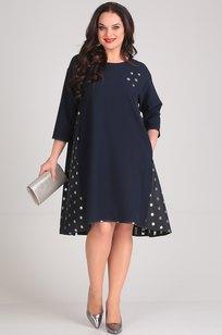 Модель 491 темно-синий+горохи SVT-fashion