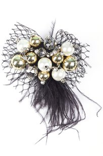 Модель Брошь 5809 черный Fashion Jewelry