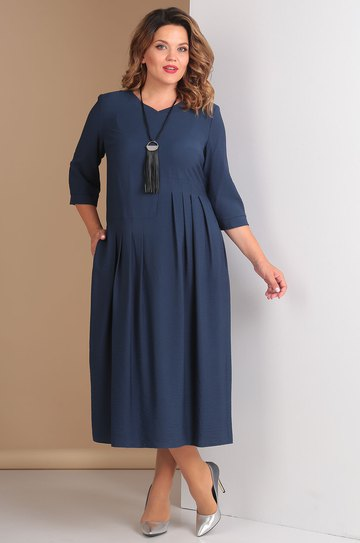 fcbb455e7c1f Платье Rishelie, синий (модель 663) — Белорусский трикотаж в ...