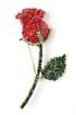 Модель Брошь Роза Красный и зеленый Sergio Stefano